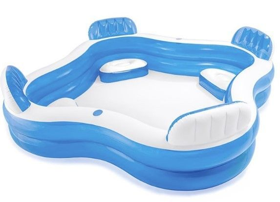 Back Seat Paddling 2.13m X 2.06m 575L Family Size Inflatable Swimming Pool
