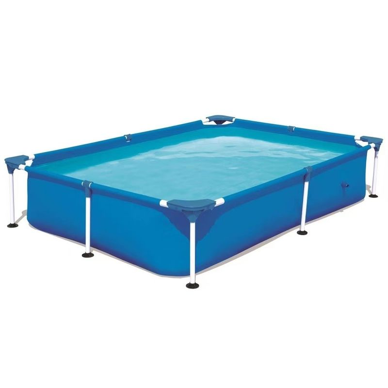 Rectangular Pipe Rack 1200L PVC Outdoor Inflatable Swimming Pool