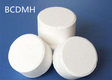Light Odor White BCDMH Water Purification Tablets / Powder For Swimming Pool Disinfection